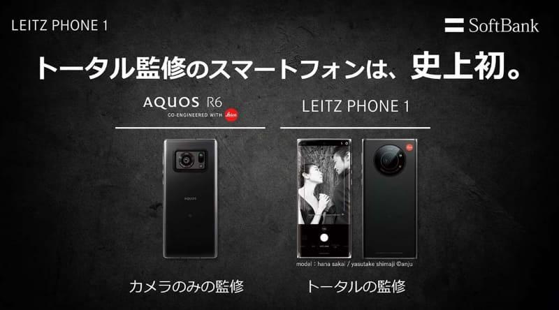R6とLeitz Phone 1の違い。ライカの監修する範囲が異なる