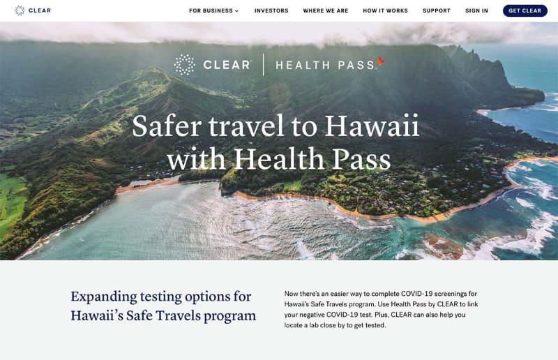 CLEARとハワイ州が組んで米国内の離島への旅行客の移動をスムーズにする仕組みの運用が進む