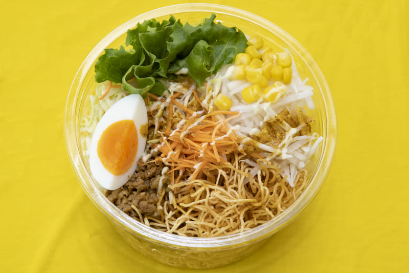 キーマカレー風パリパリ麺サラダ(368円)、