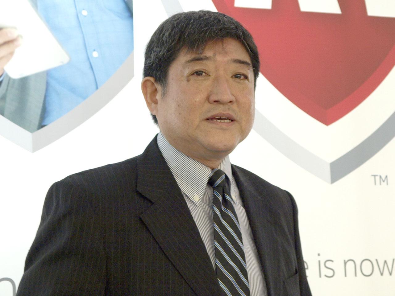 マカフィー株式会社コンシューマ事業統括取締役専務執行役員の田中辰夫氏