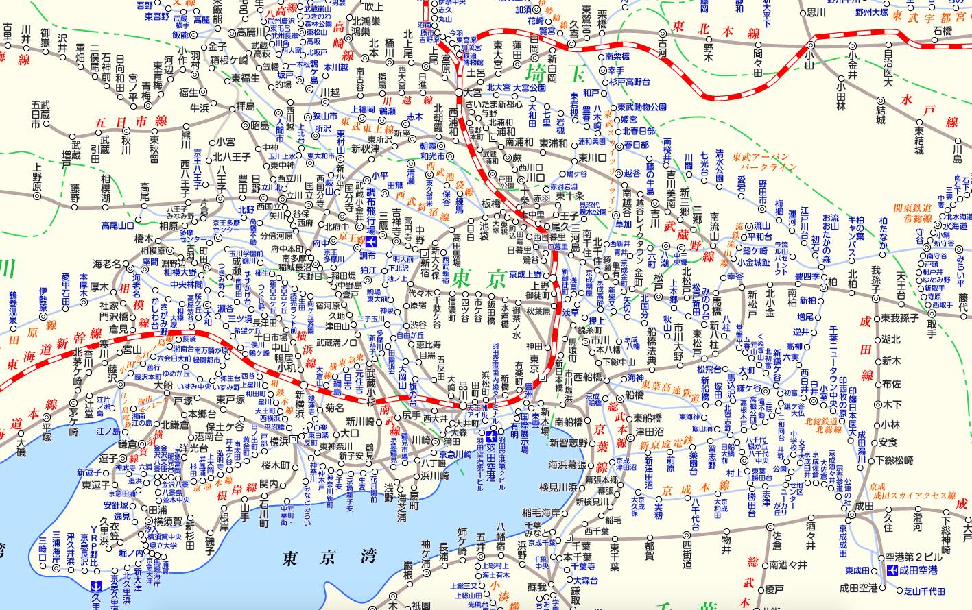 旧路線図(東京)