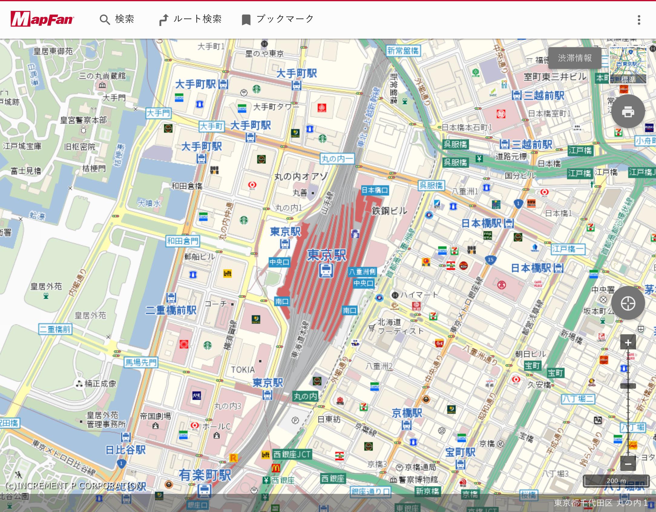 インクリメントPの「MapFan API」を活用した同社の地図サイト「MapFan.com」