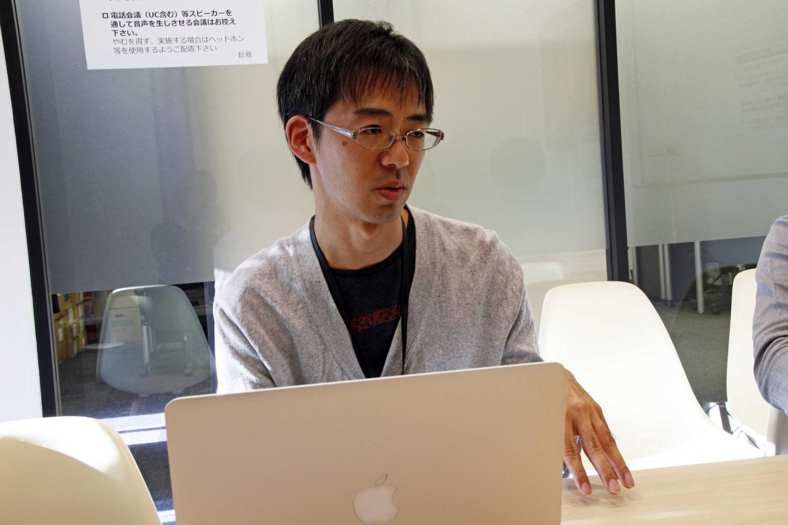 望月氏はアプリの開発などを担当