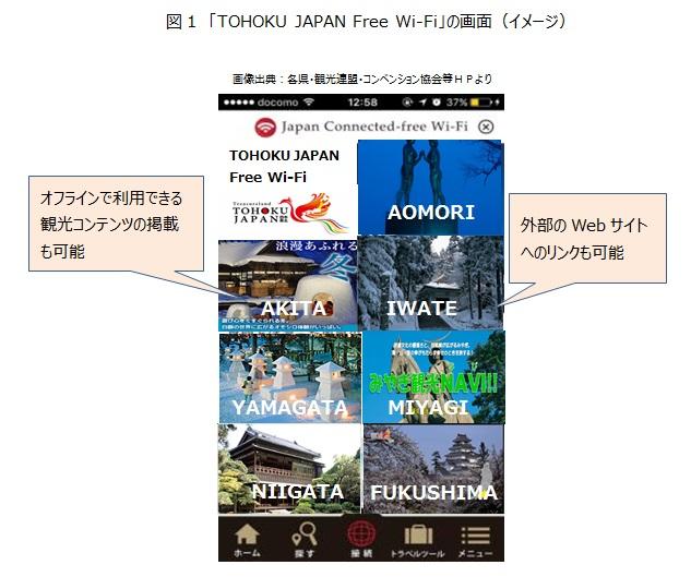 「TOHOKU JAPAN Free Wi-Fi」アプリでも東北の観光情報を発信