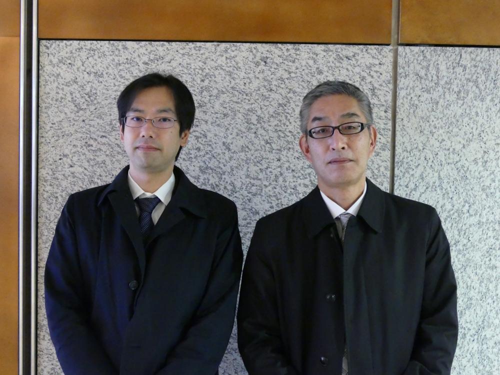 清水建設株式会社技術研究所未来創造技術センターIoTグループの貞清一浩氏(右)と五十嵐雄哉氏(左)