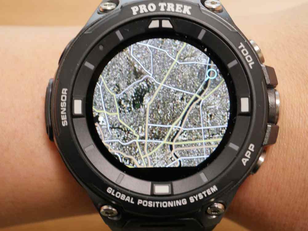 「ロケーションメモリー」での地図表示(Mapbox「衛星写真」)