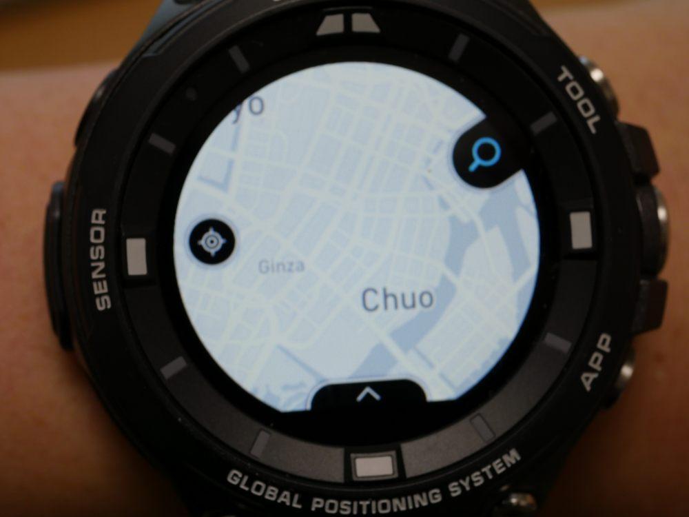 「ロケーションメモリー」での地図表示(Mapbox「ライト」)