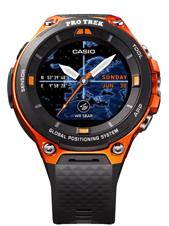本体カラーバリエーションは、オレンジ/ブラックの2種類。写真は、オレンジの「WSD-F20-RG」