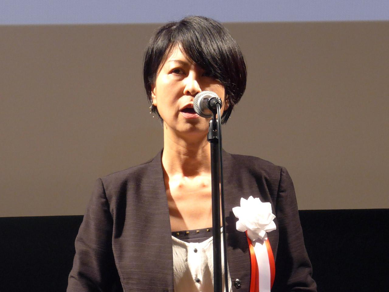 明石賞和文部門金賞を受賞した松村潤子氏