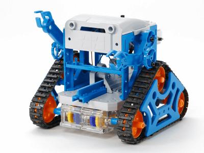 タミヤ、IchigoJamでのプログラミングが可能な「カムプログラムロボット工作セット」、3200円で発売