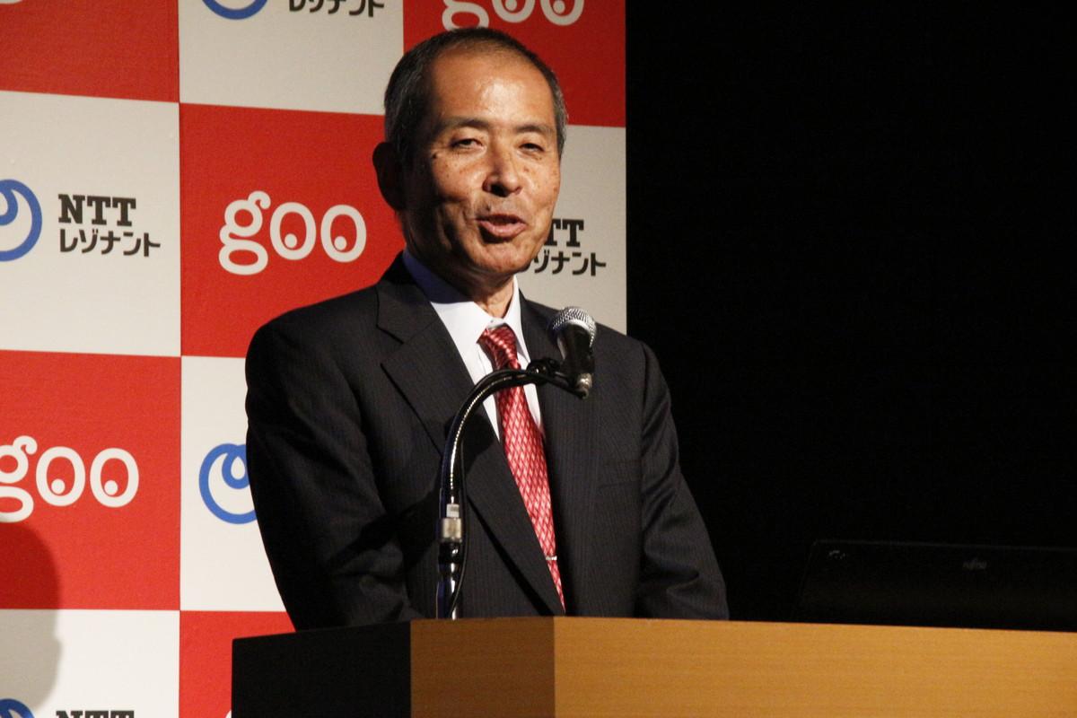 "NTTレゾナント株式会社の若井昌宏代表取締役社長。「gooではユーザーの目的や行動、生活シーンによってユーザーに最適化された""おもてなし""を意識したサービス展開を目指している」という"