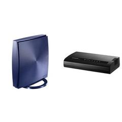 アイ・オーの無線LANルーターなど、Amazonが9月27日限定でタイムセール ギガビット対応5ポートスイッチングハブ「ETG-ESH05K2B」セット(7980円)