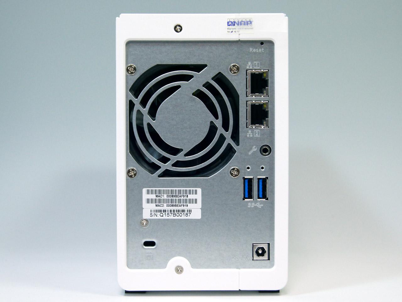 ホームユーザーのバックアップ用途に最適なQNAPの2ベイモデル「TS-231P」