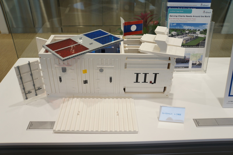 コンテナ型データセンター「co-IZmo」をレゴで再現