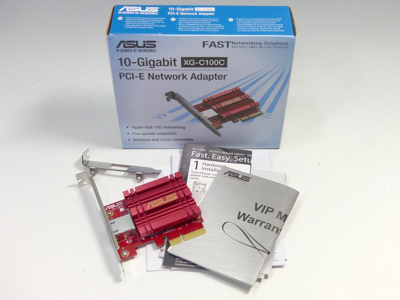 1万2000円前後と低価格なASUSの10GbE対応ネットワークカード「XG-C100C」