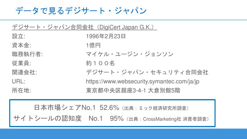 デジサート・ジャパン合同会社の概要