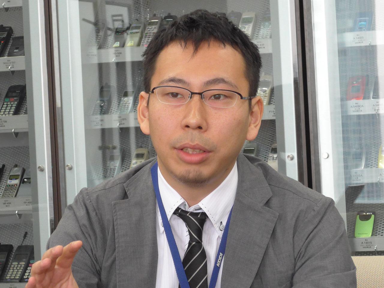 KDDI株式会社商品企画本部ホームプロダクト開発部プロダクト開発1グループ課長補佐の平間伸雄氏