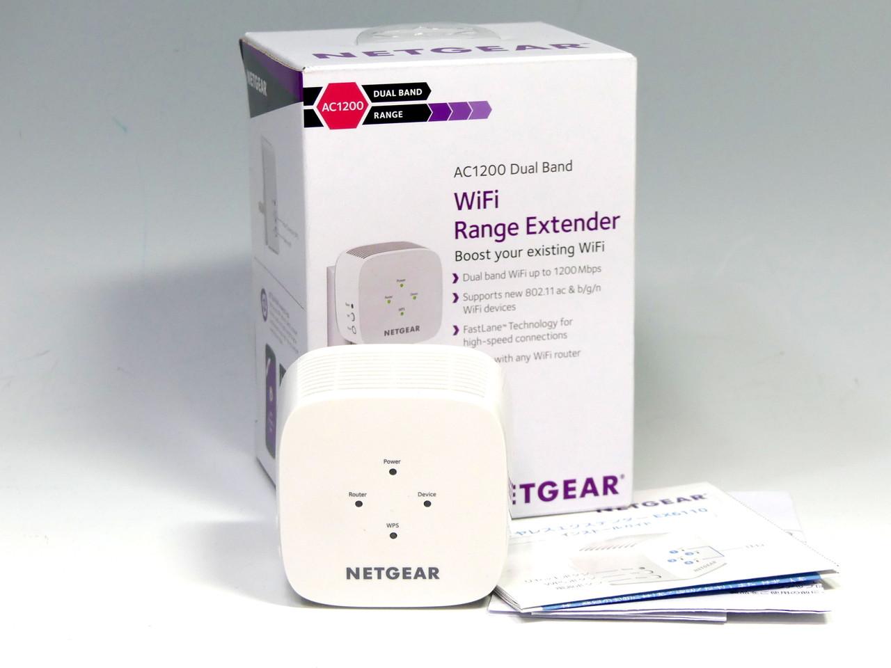 ネットギアジャパンのIEEE 802.11ac/n/a/g/b対応無線LAN中継機「EX6110」