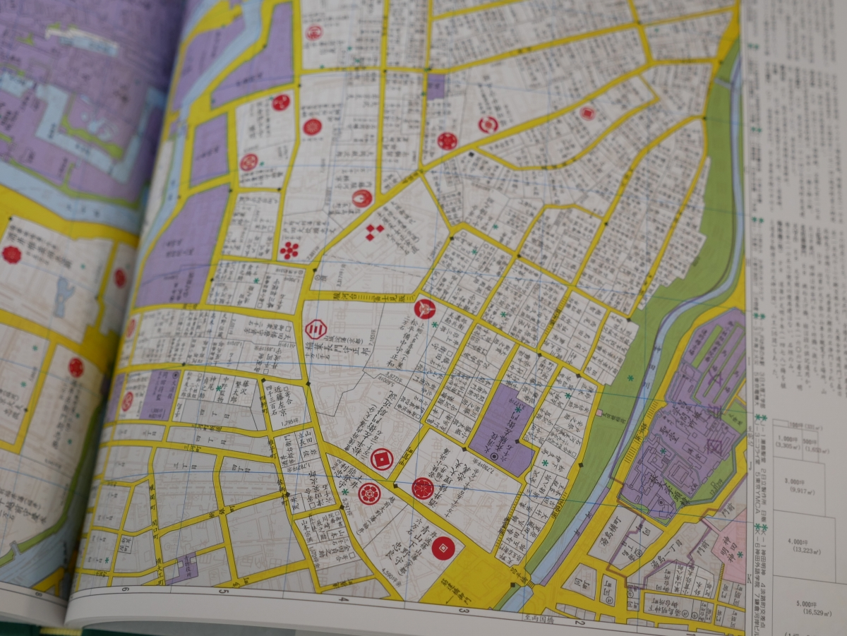 6500分の1の大縮尺で江戸の地図を楽しめる