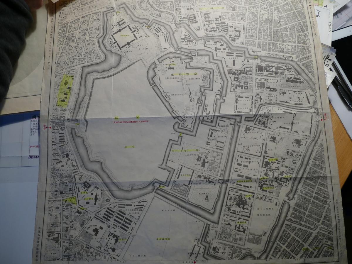 ベースとなった明治初期の地図