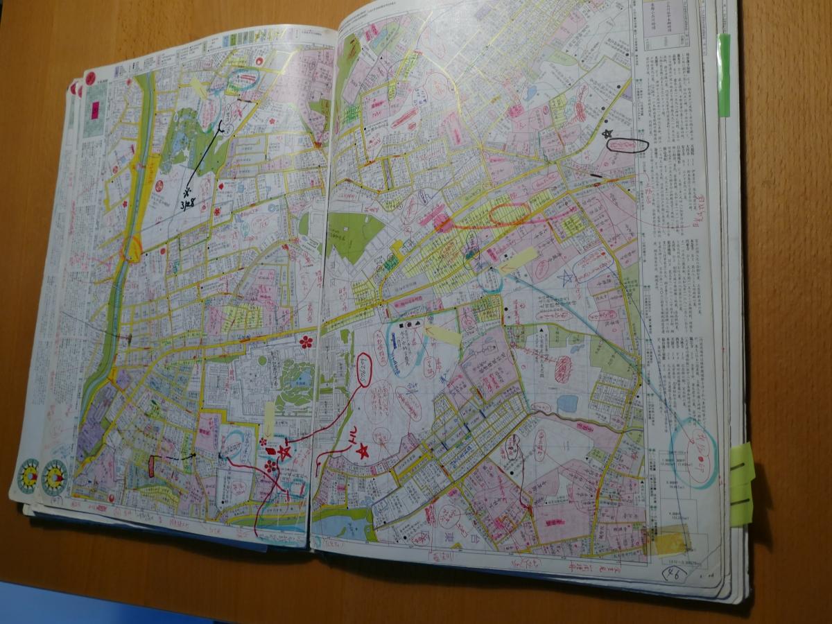 「復元・江戸情報地図」に書き込まれた修正情報