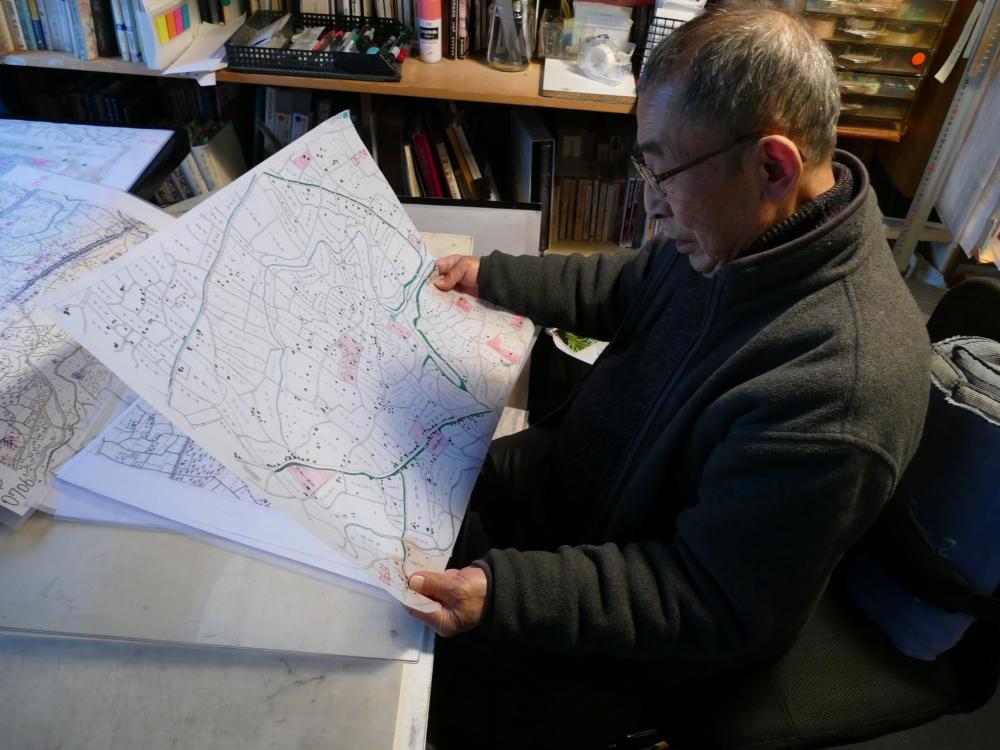 中川氏の復元地図作成はこれからも続く