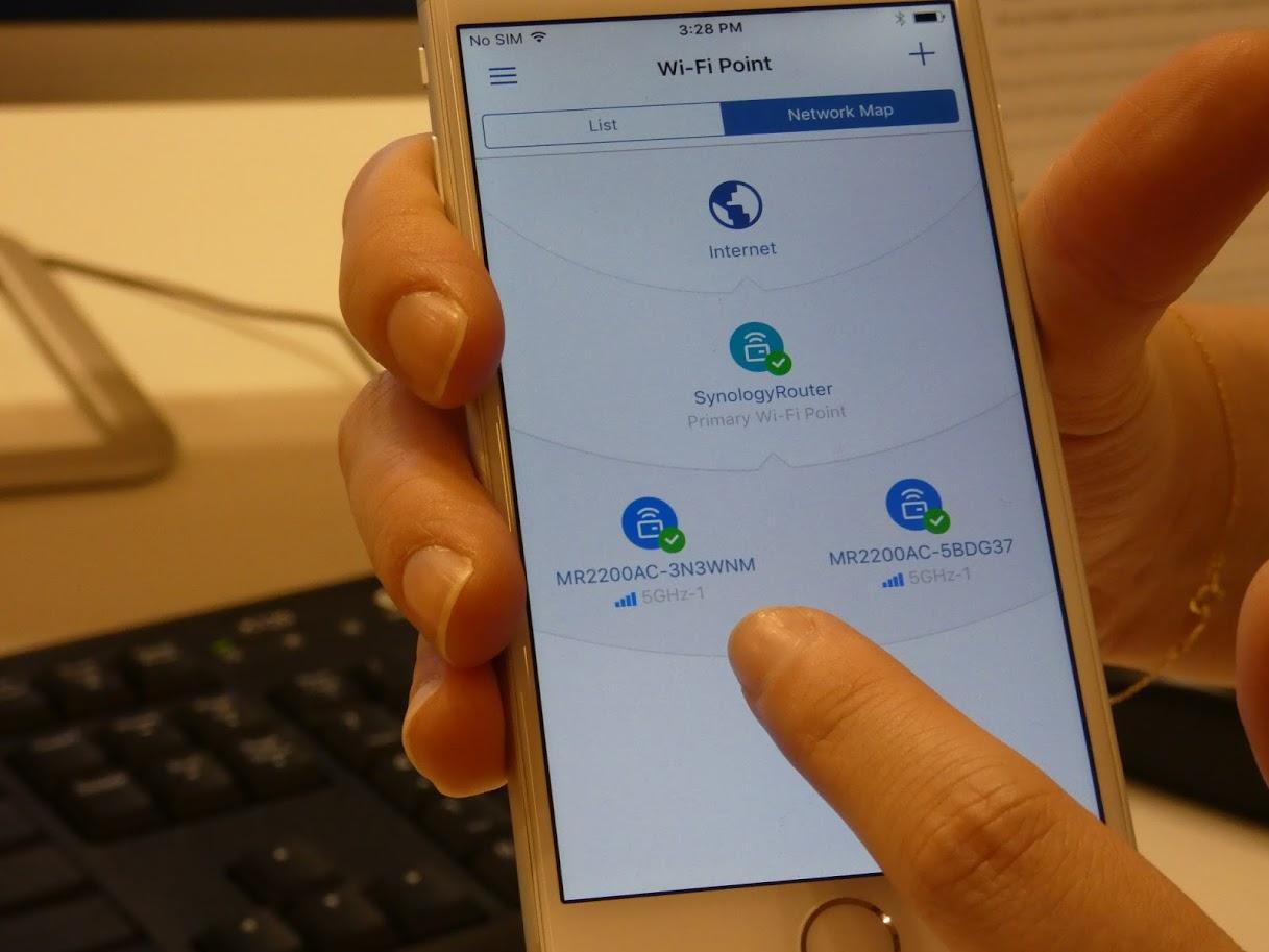 スマートフォンアプリを使って接続状況を確認できる