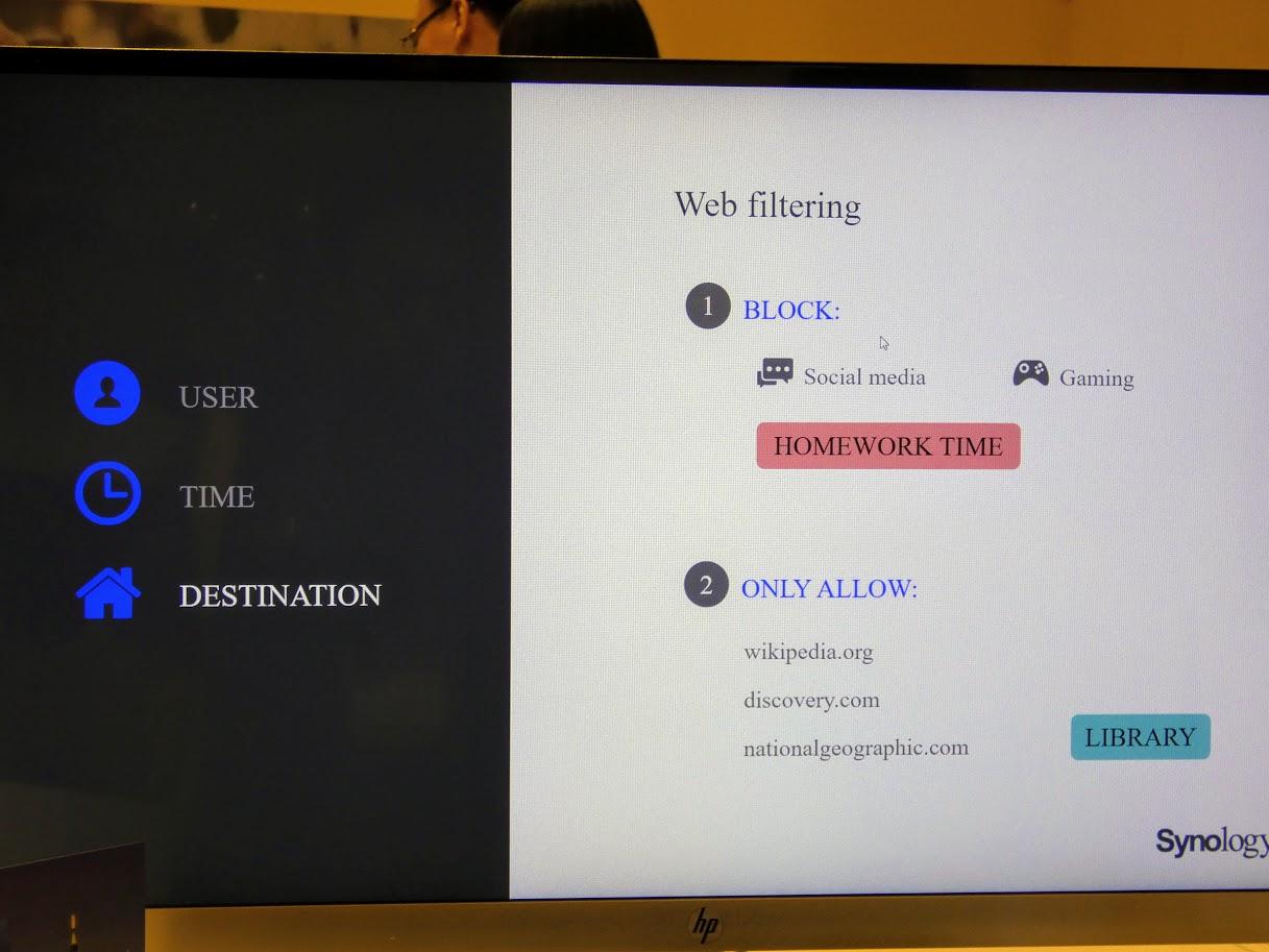 ウェブフィルタリング機能も柔軟に設定でき、サイトのブロックだけでなく、逆に指定したサイトのみアクセスできるホワイトリストも設定可能