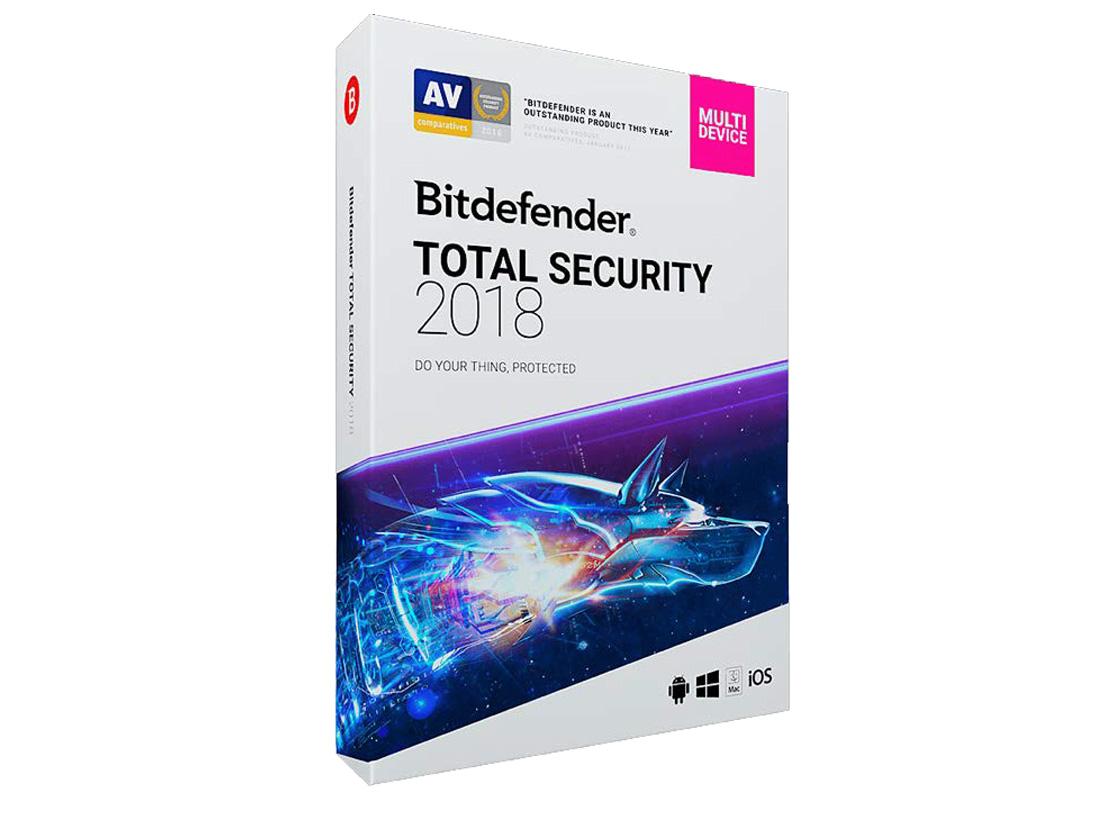 ウイルス対策ソフト「Bitdefender Total Security 2018」