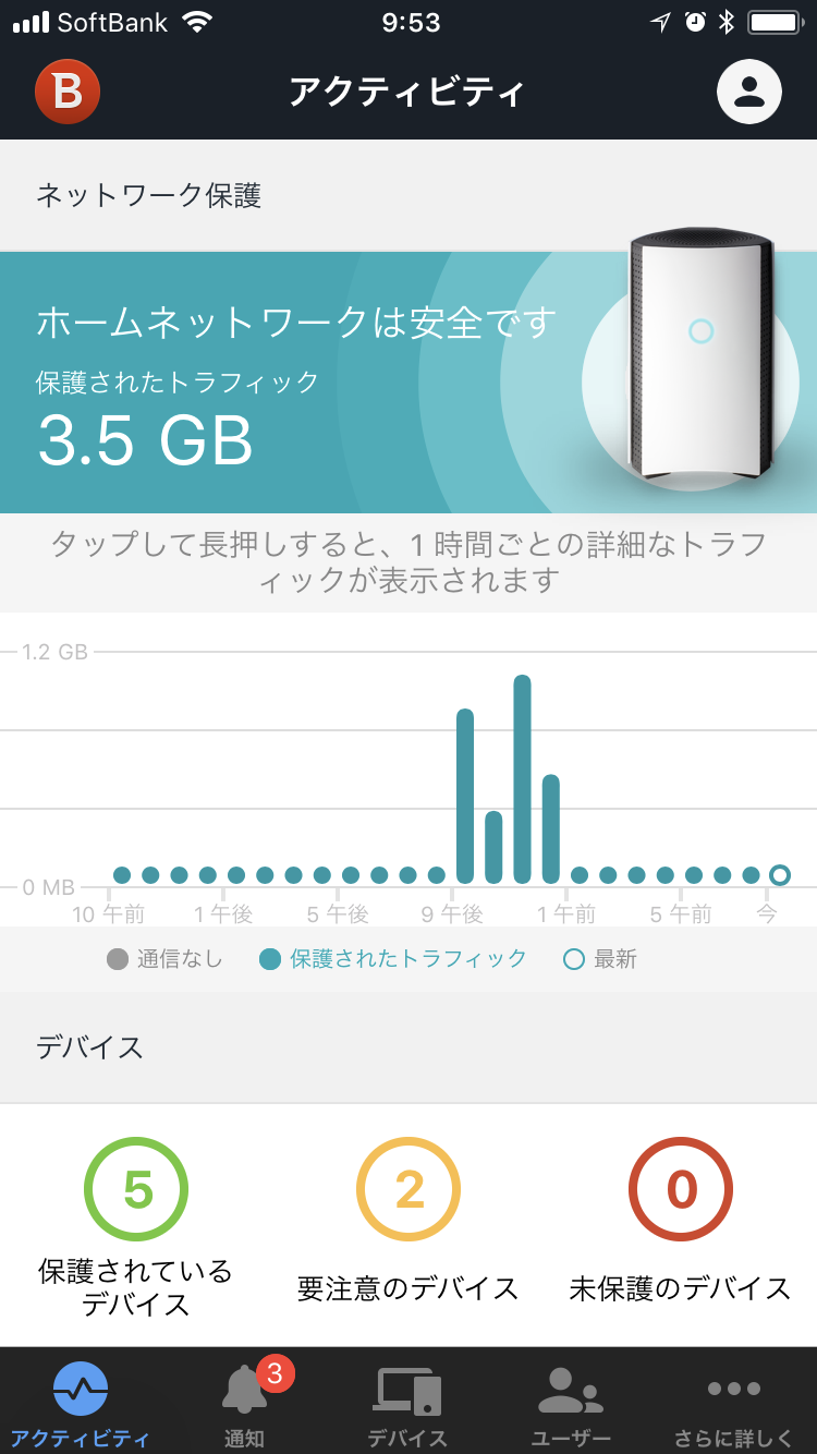 Android/iOS専用の管理アプリ「Bitdefender Central」