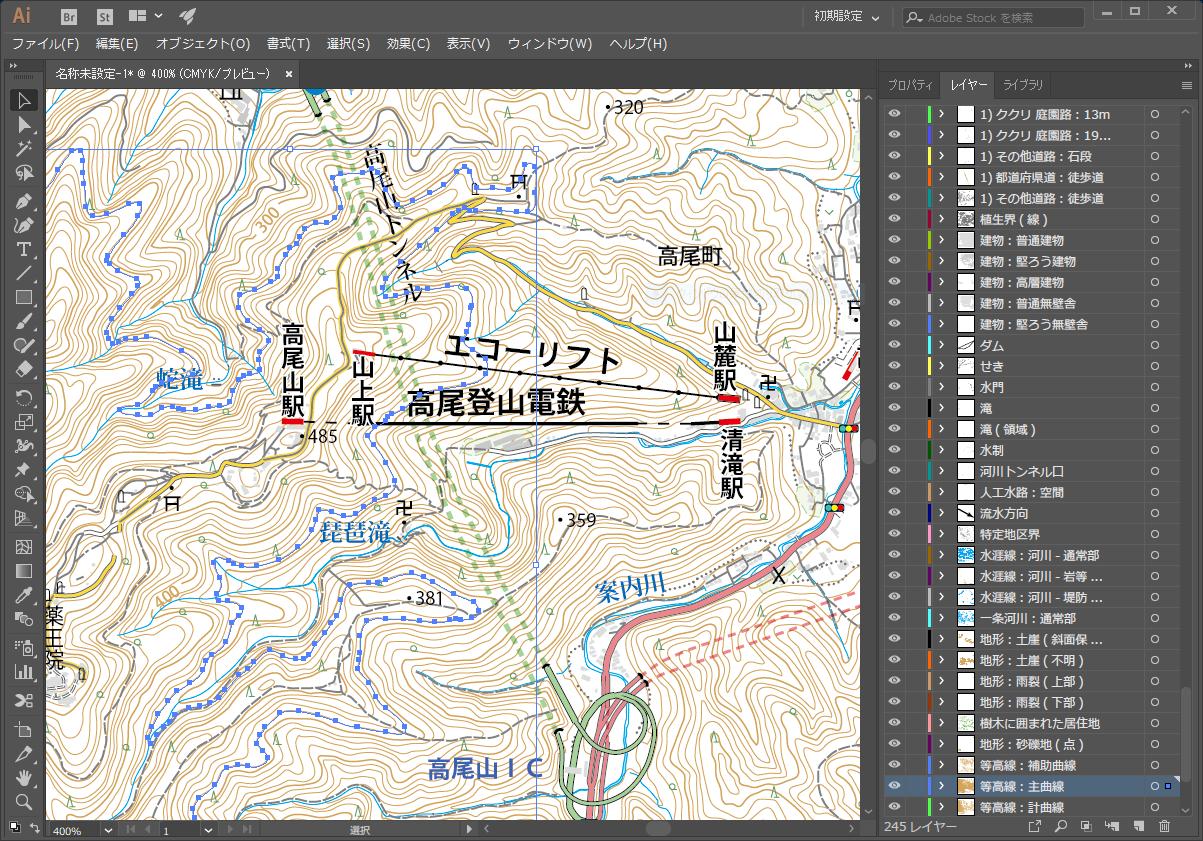 Illustratorから数値地図を読み込める「Plug X」