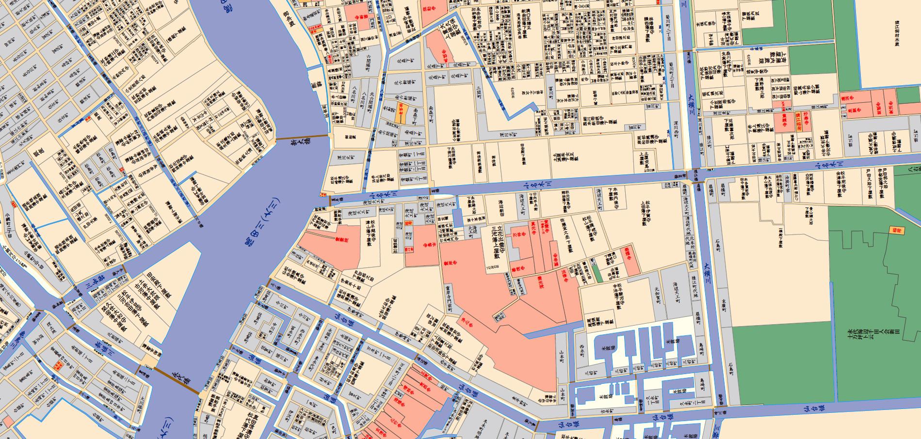 江戸時代の地図(清澄白河周辺)