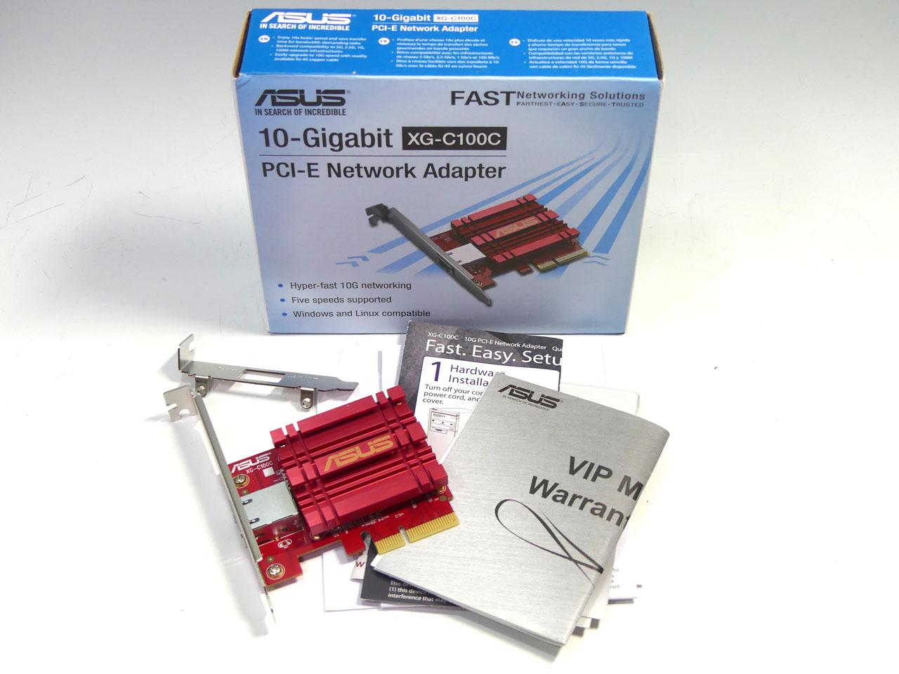 10GBASE-T対応NICのASUS「XG-C100C」