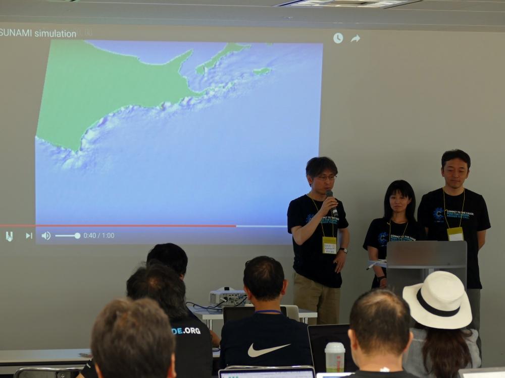 津波のシミュレーション映像