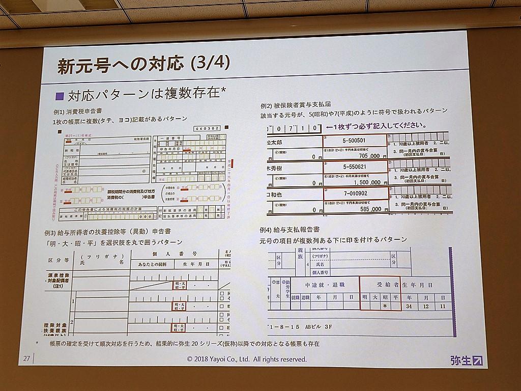 官公庁関係の書類は和暦が主流。しかしフォーマットはバラバラだ