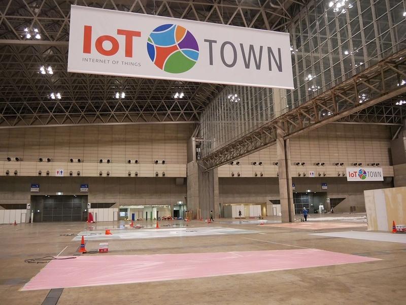 CEATEC JAPAN 2018の目玉展示となったIoTタウン。まだなにも用意されていない段階だ