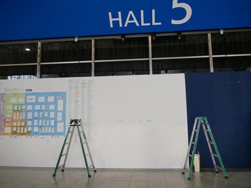 ホール5にキービジュアルを設置することになったが、鹿野エグゼクティブプロデューサーの想定とは違うものになり急きょ作り直し