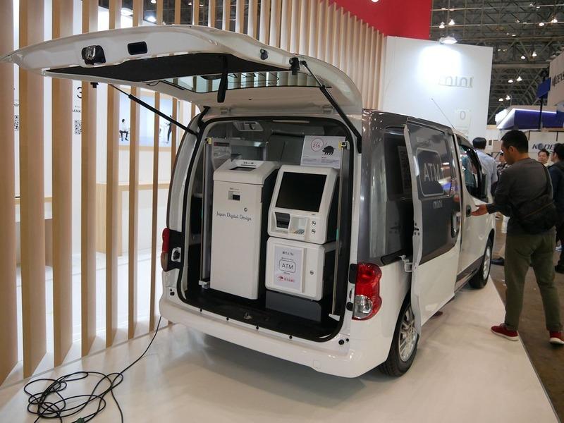 Japan Digital DesignのATM搭載自動車も搬入