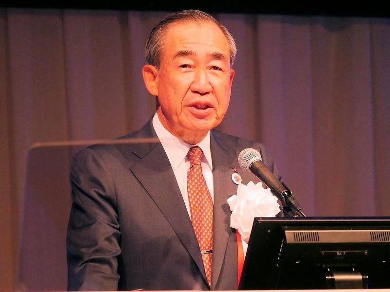 午前11時から始まった基調講演の冒頭にCEATEC JAPAN実施協議会の会長を務める三菱電機の柵山正樹会長が挨拶