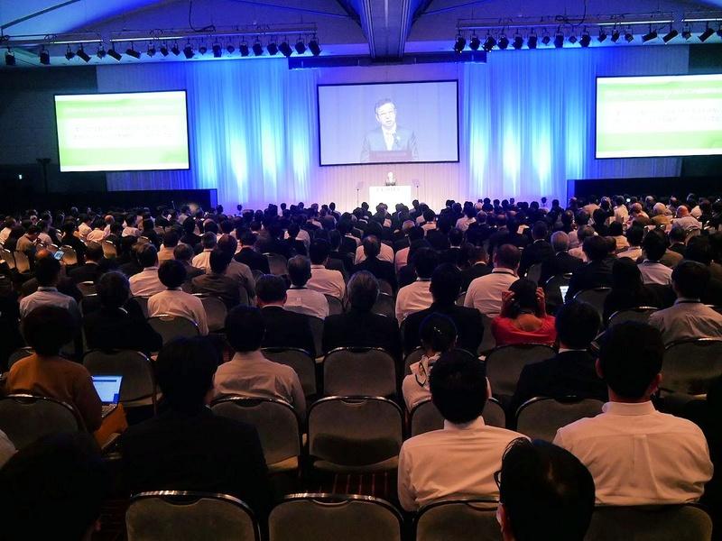 1000人収容の基調講演の会場は満席になった