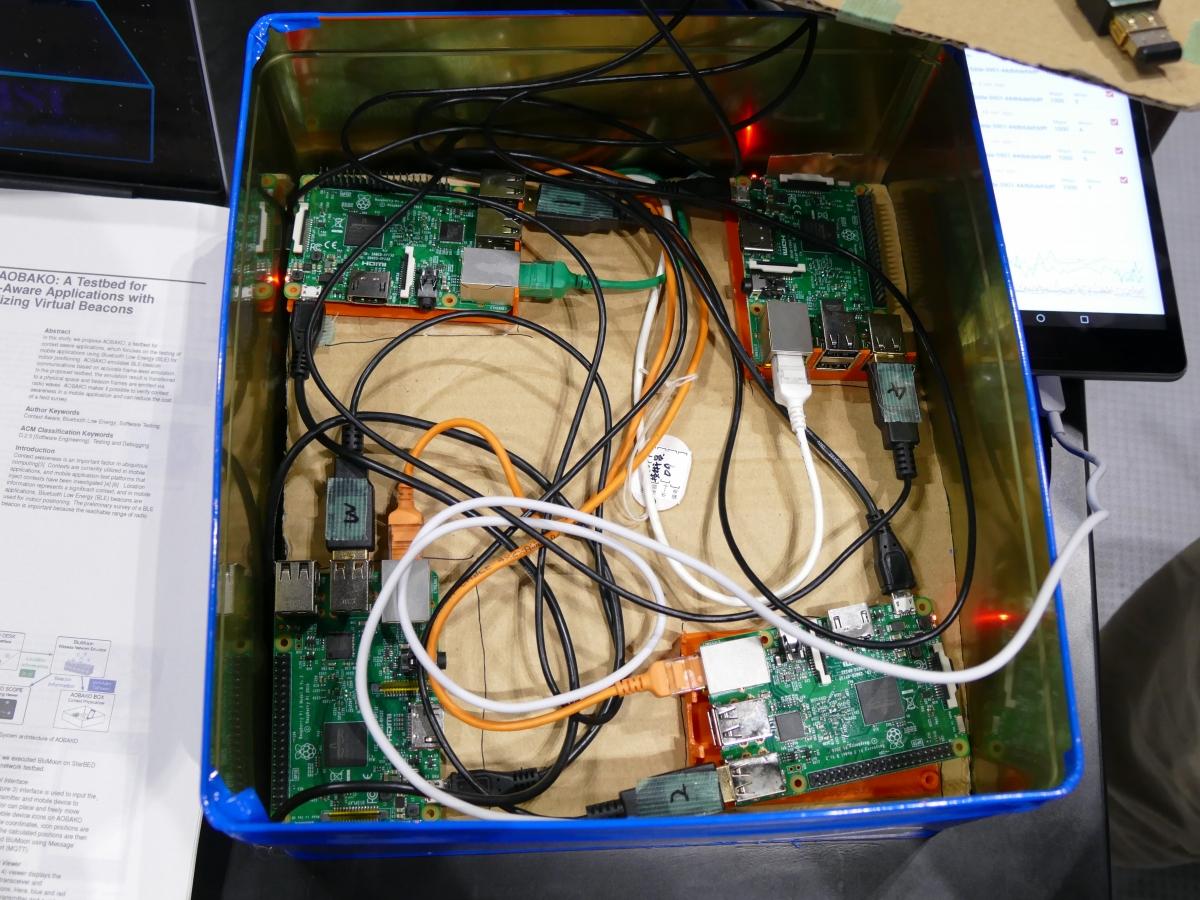 「AOBAKO BOX」の中にはRaspberry PiとBLEビーコンを内蔵