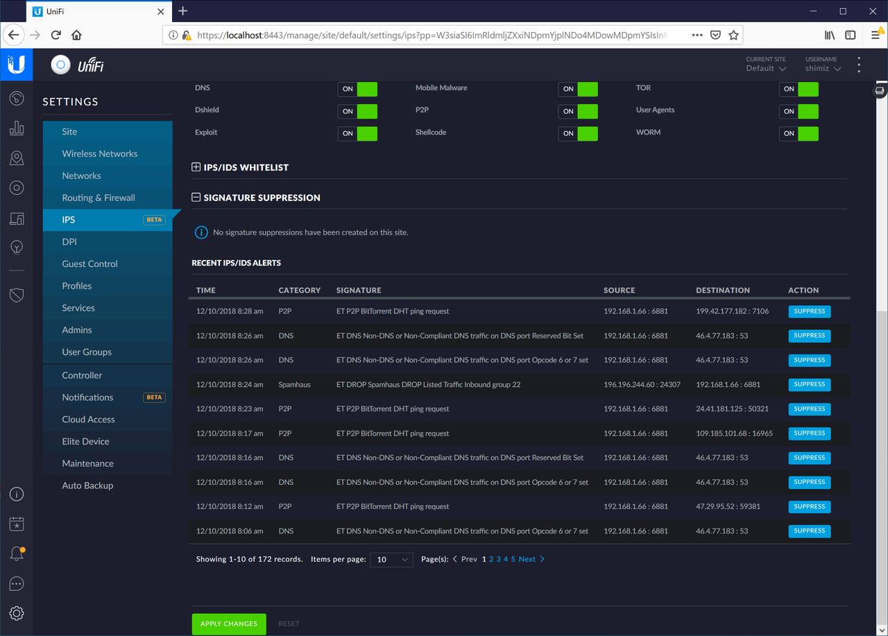 NASのテストをしていたため、ちょうどBitTorrentの通信を検知できた