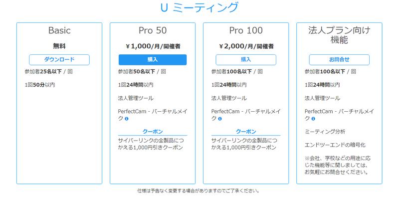 PerfectCamだけを契約するより安いPro 50プランがおすすめだ