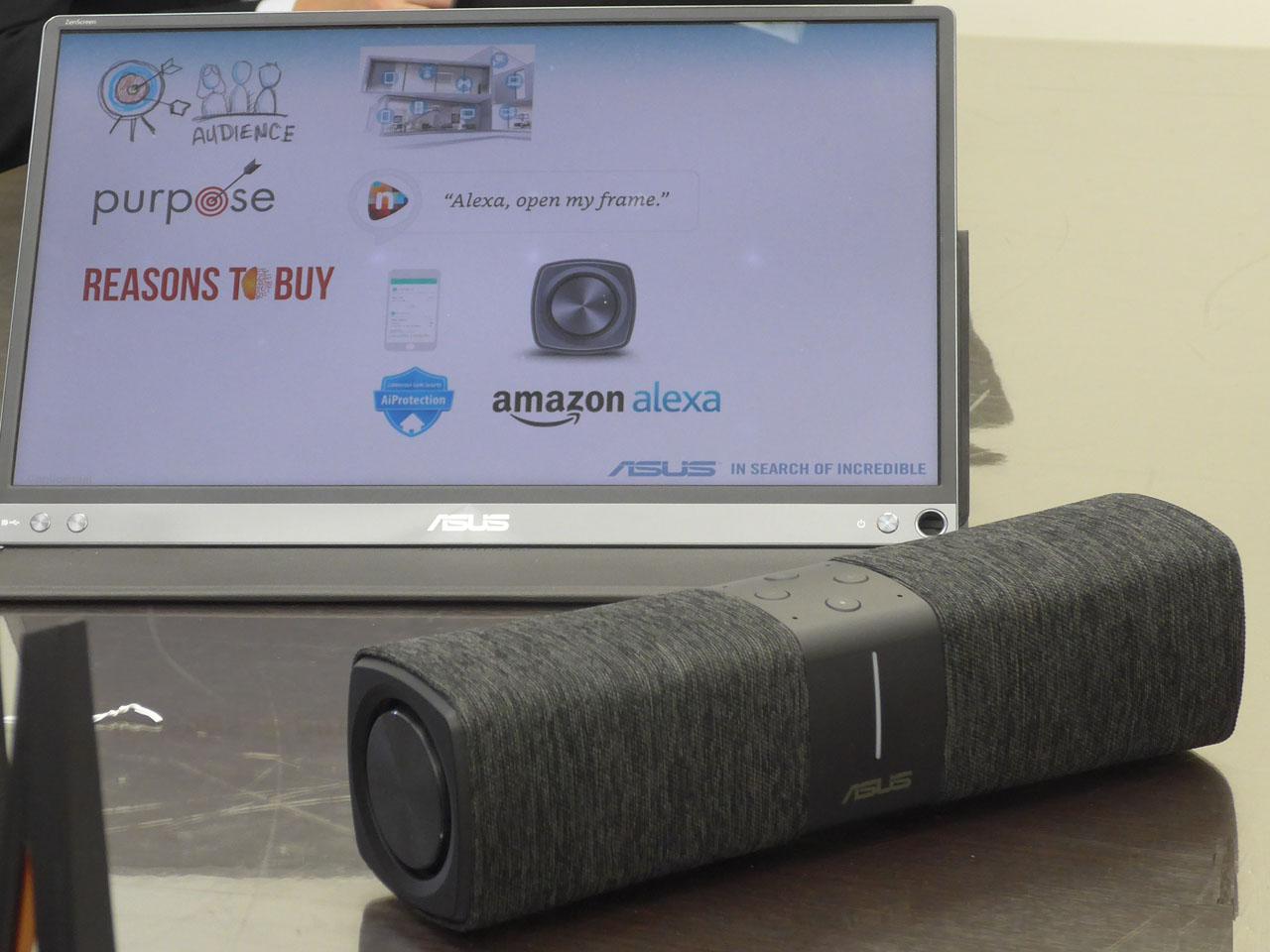 メッシュWi-FiルーターとAlexa対応スマートスピーカーを一体化した「Lyra Voice」