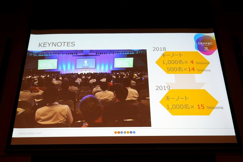 CEATEC 2019では、開催期間の4日間連続で1,000人規模のキーノートスピーチを15セッション開催予定