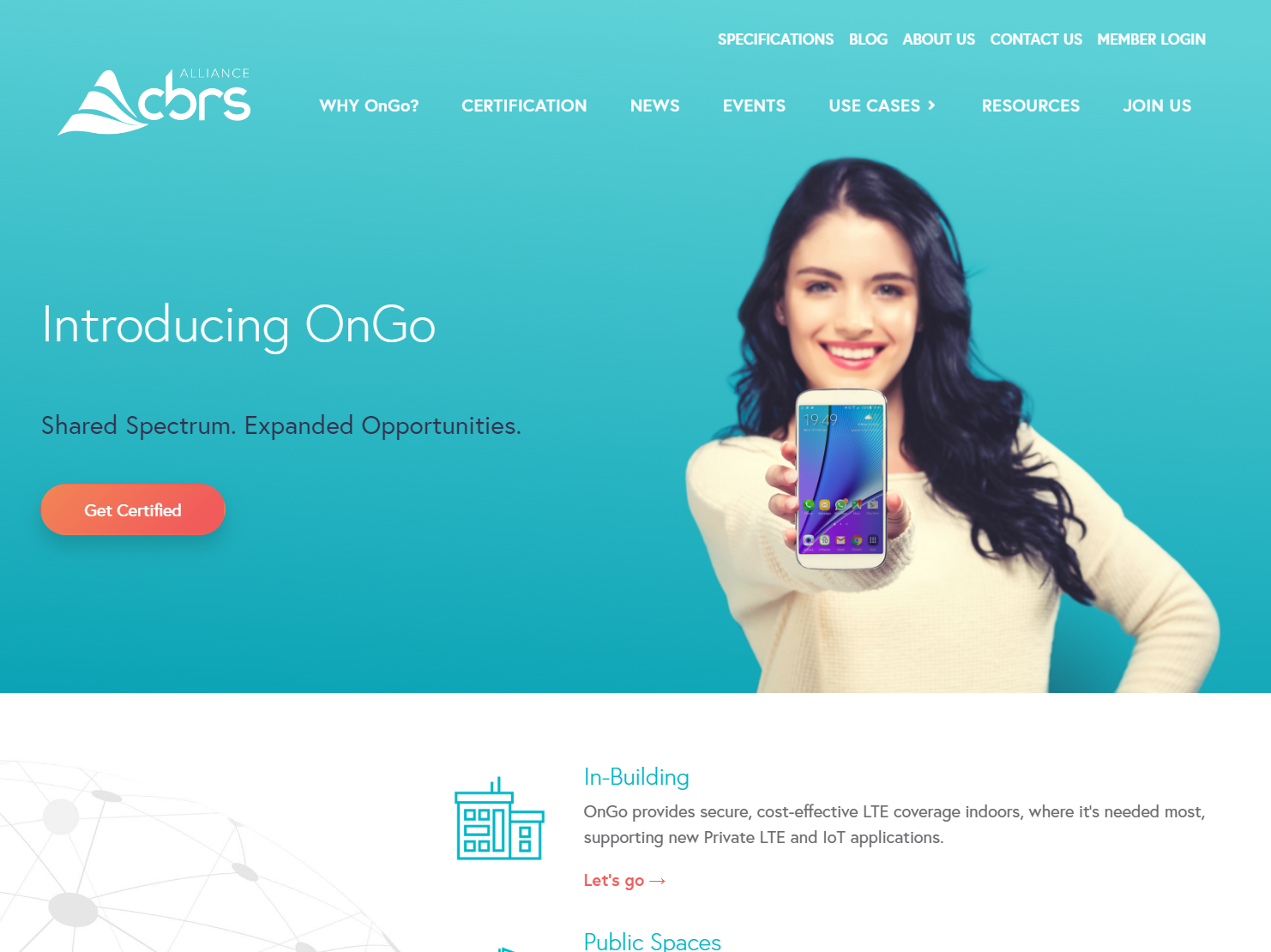 CBRS Allianceのウェブサイト