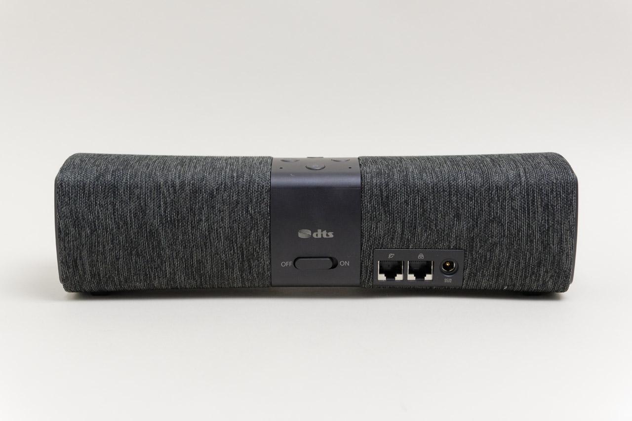 Lyra Voiceの背面。WANとLANのポートを1つ用意