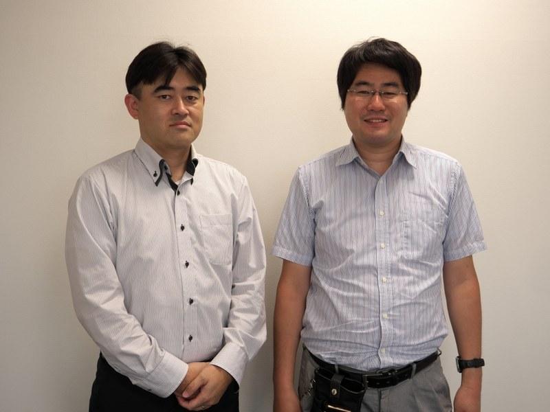 株式会社マップル・オン取締役の高澤宏光氏(左)、同社エンジニアの柴本歩氏(右)