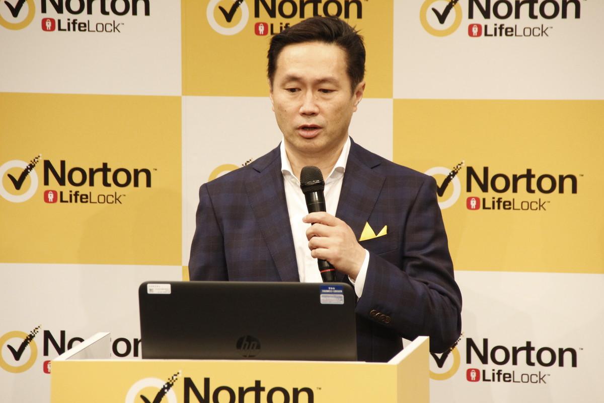 株式会社シマンテックノートン事業統括本部統括本部長の常務執行役員の正木敏博氏