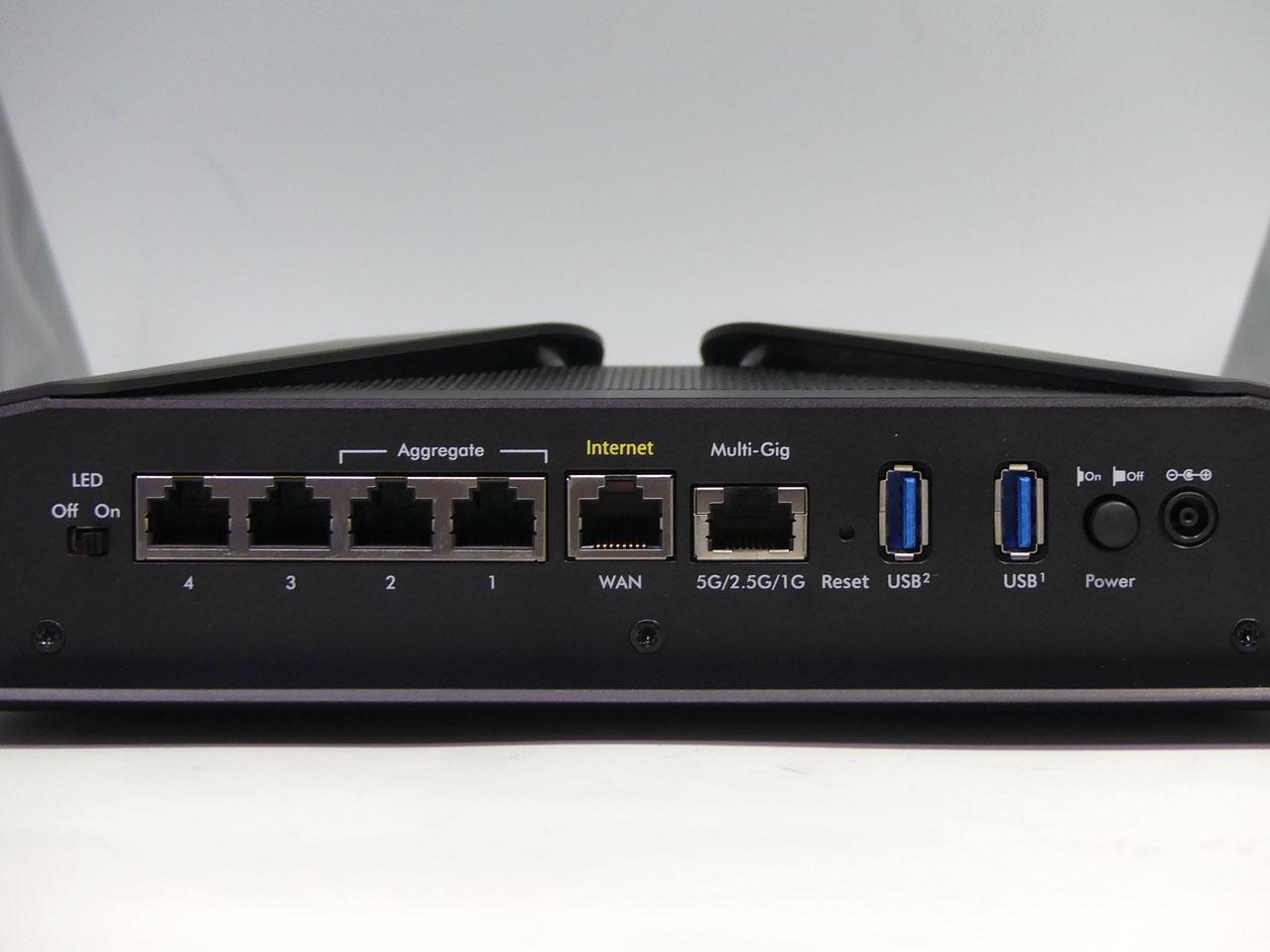 最大5Gbps対応のLANポート搭載している